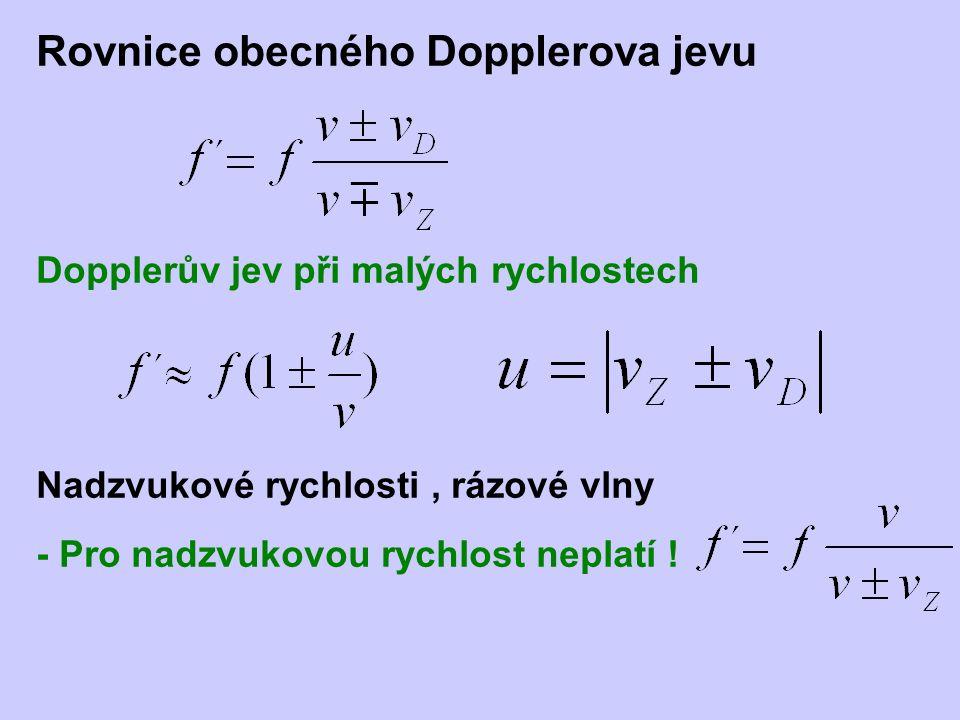 Rovnice obecného Dopplerova jevu