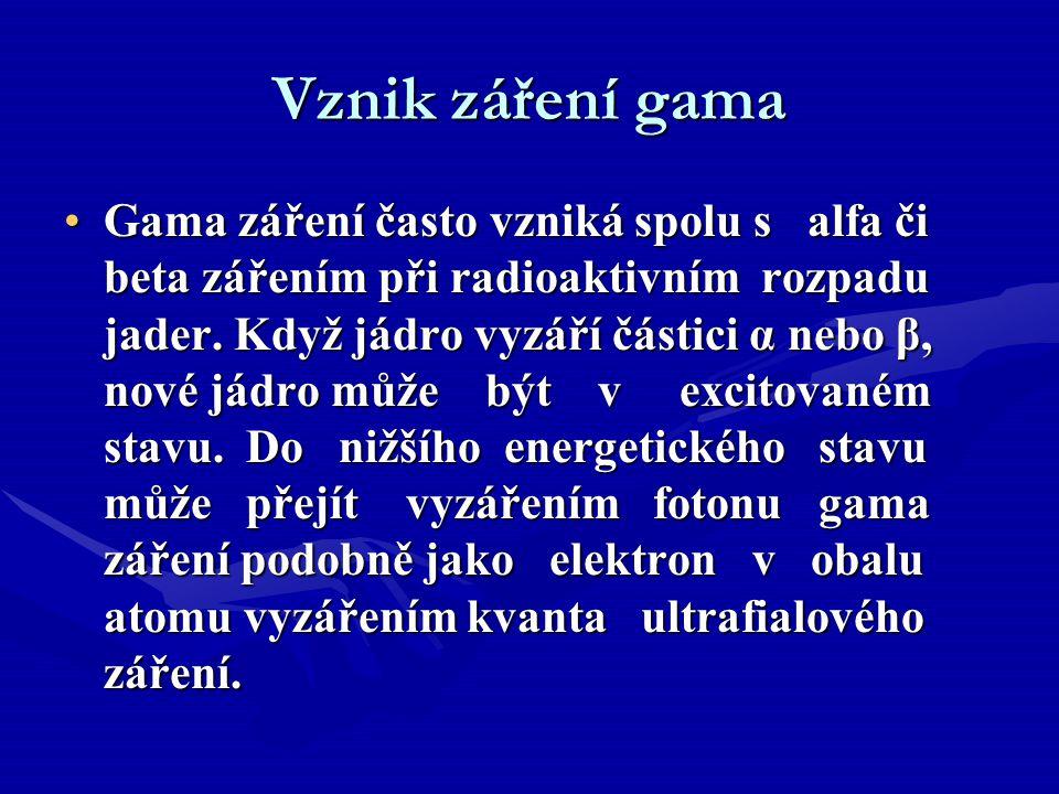 Vznik záření gama