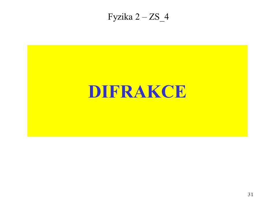 Fyzika 2 – ZS_4 DIFRAKCE
