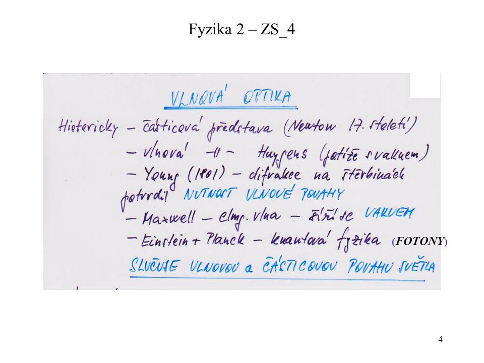Fyzika 2 – ZS_4 (FOTONY)