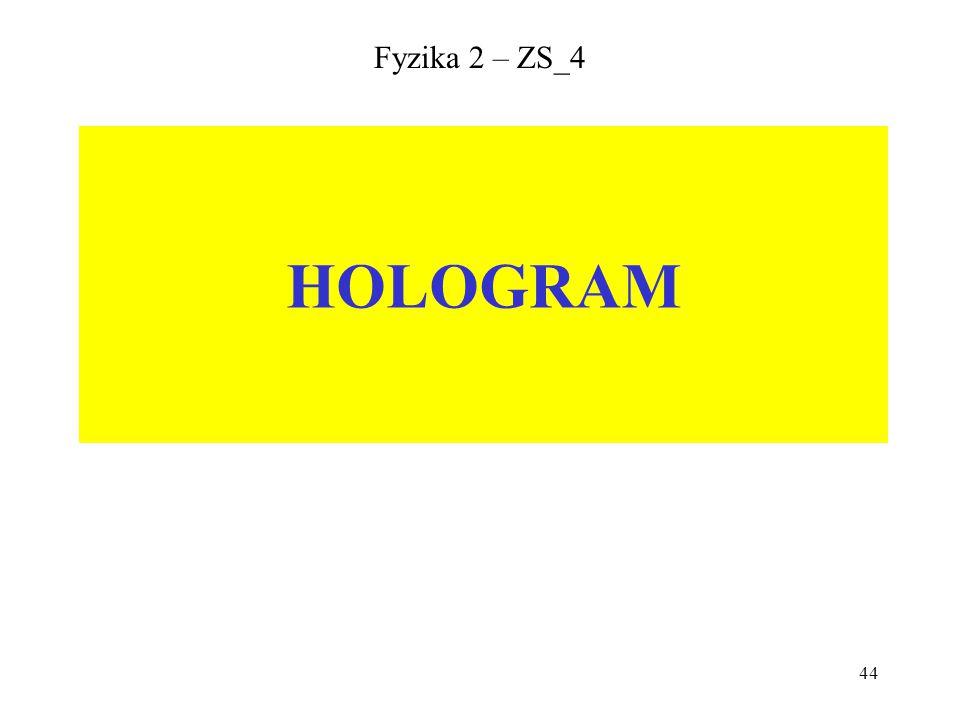 Fyzika 2 – ZS_4 HOLOGRAM