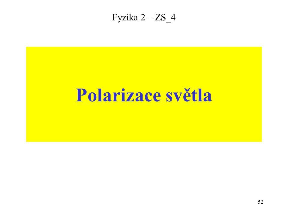 Fyzika 2 – ZS_4 Polarizace světla
