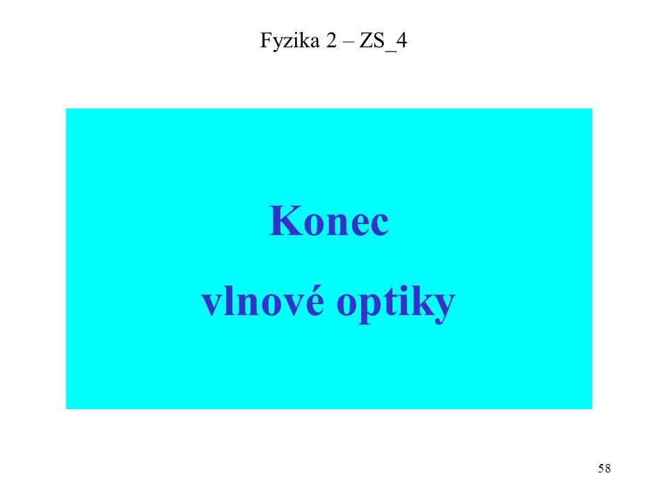 Fyzika 2 – ZS_4 Konec vlnové optiky