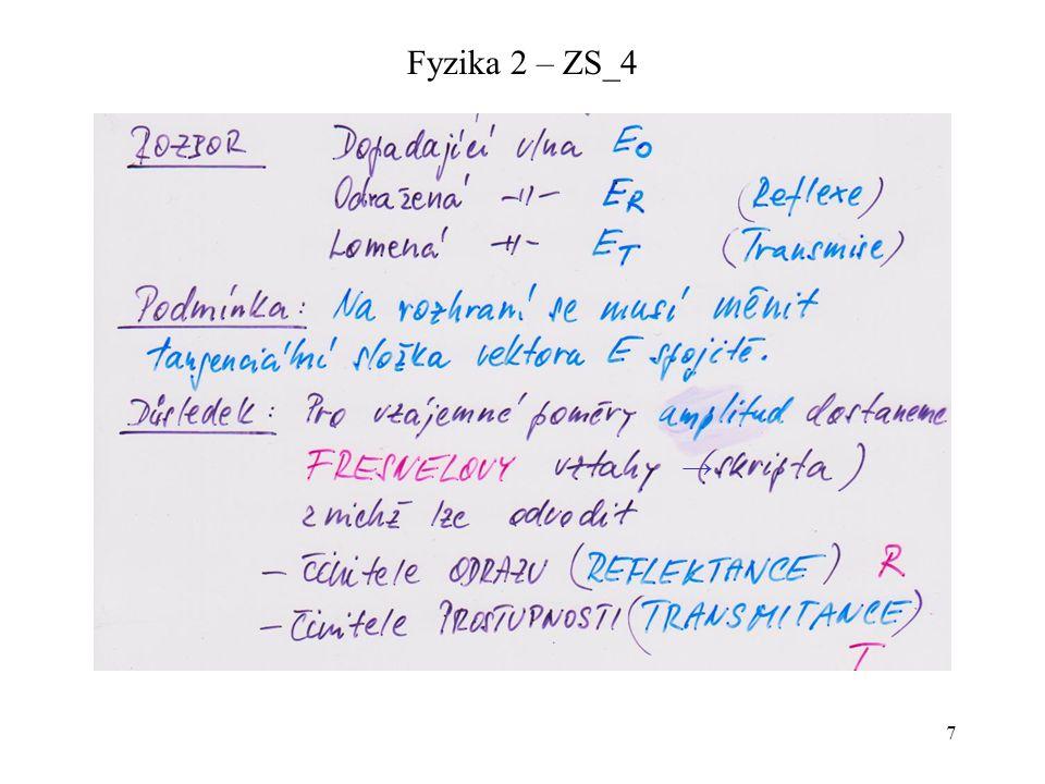 Fyzika 2 – ZS_4 →