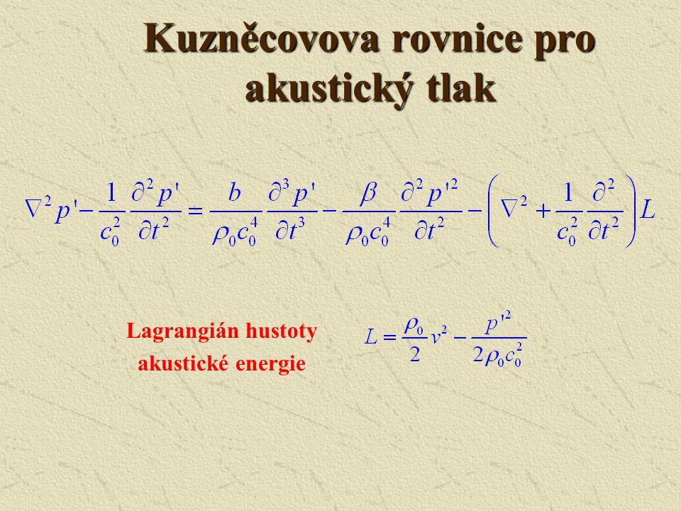 Kuzněcovova rovnice pro akustický tlak
