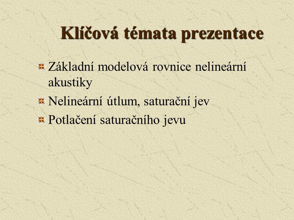 Klíčová témata prezentace