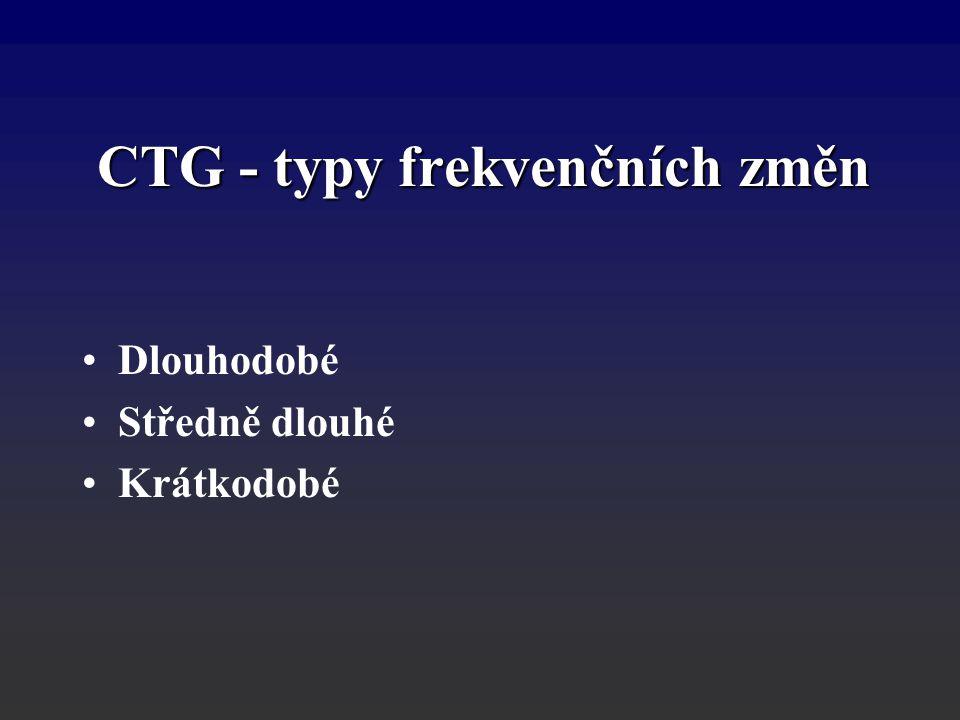 CTG - typy frekvenčních změn
