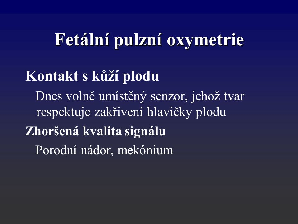 Fetální pulzní oxymetrie
