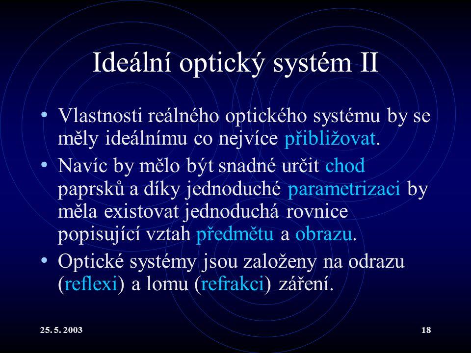 Ideální optický systém II