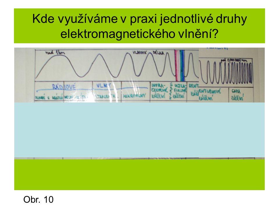 Kde využíváme v praxi jednotlivé druhy elektromagnetického vlnění
