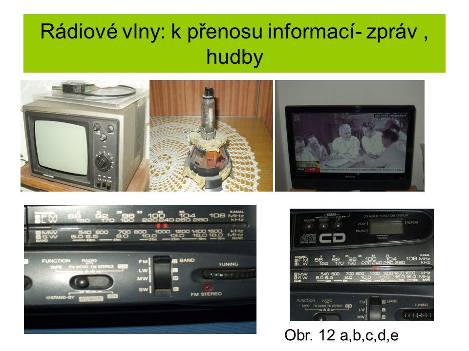 Rádiové vlny: k přenosu informací- zpráv , hudby