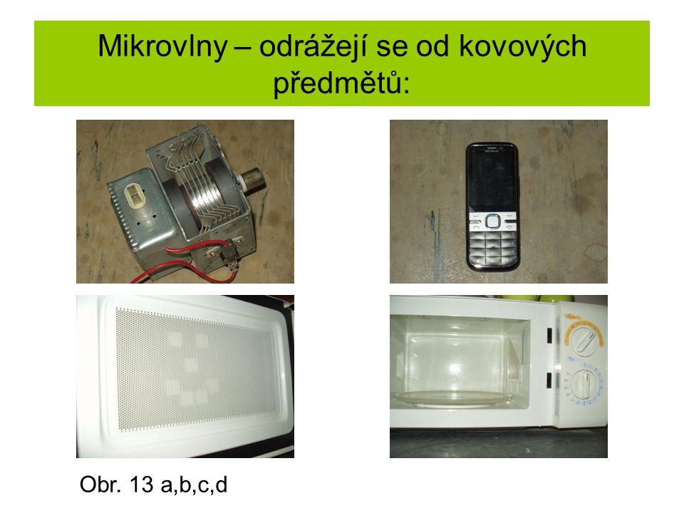 Mikrovlny – odrážejí se od kovových předmětů: