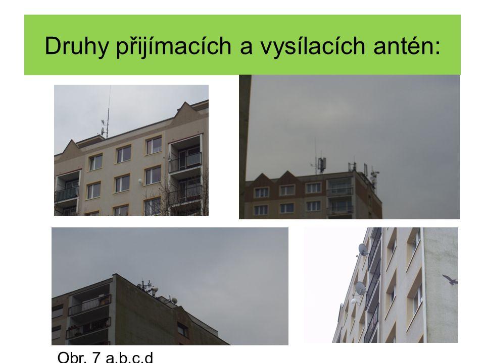 Druhy přijímacích a vysílacích antén: