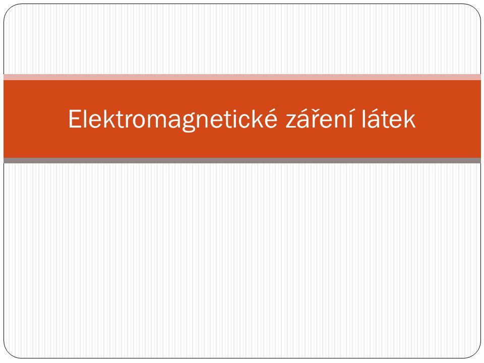 Elektromagnetické záření látek