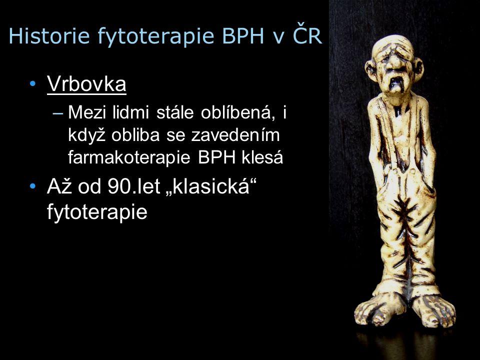 Historie fytoterapie BPH v ČR