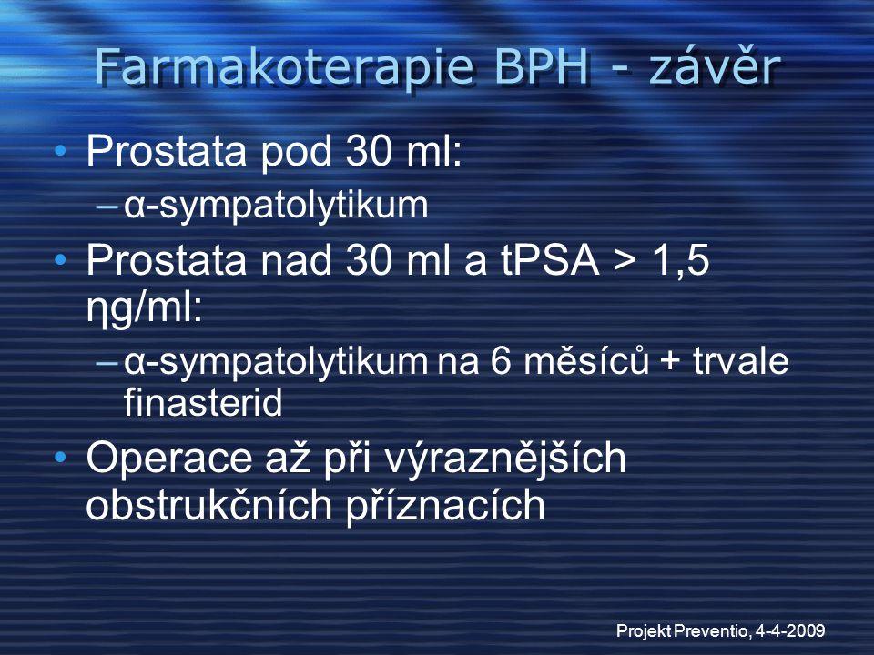 Farmakoterapie BPH - závěr