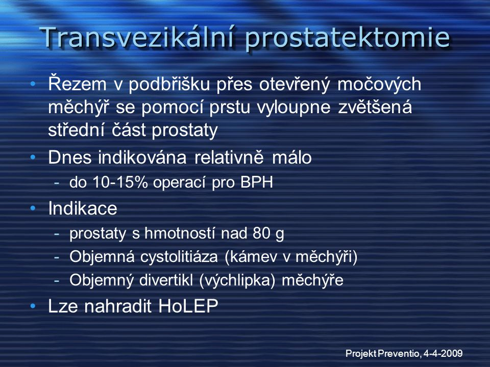 Transvezikální prostatektomie