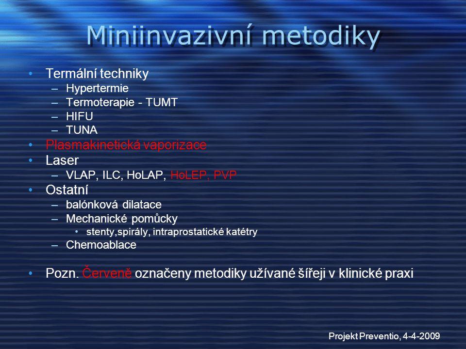 Miniinvazivní metodiky