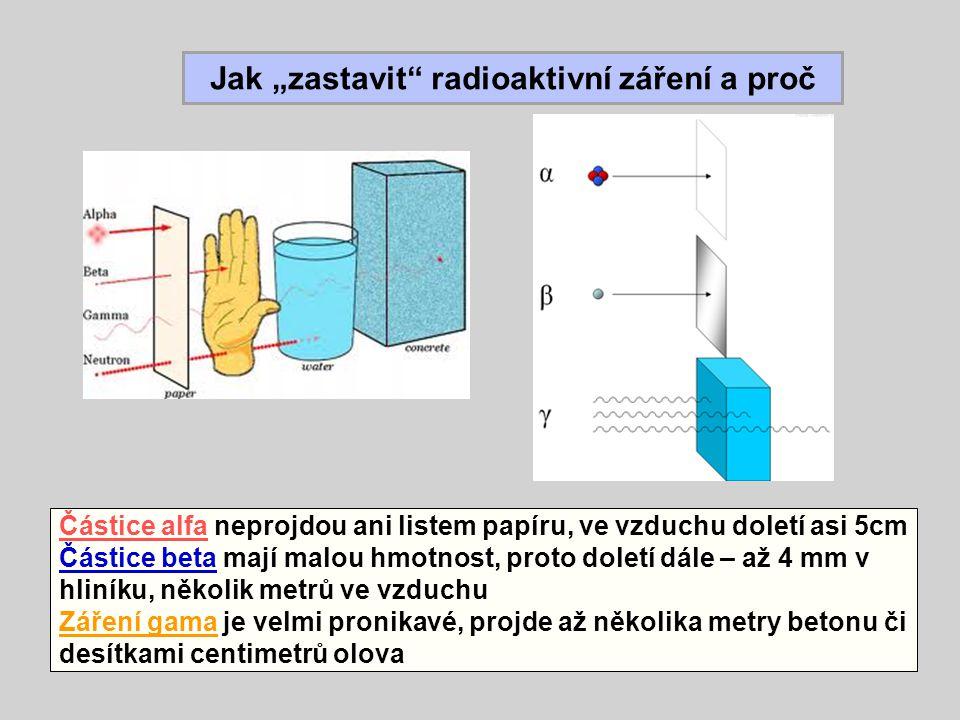 """Jak """"zastavit radioaktivní záření a proč"""