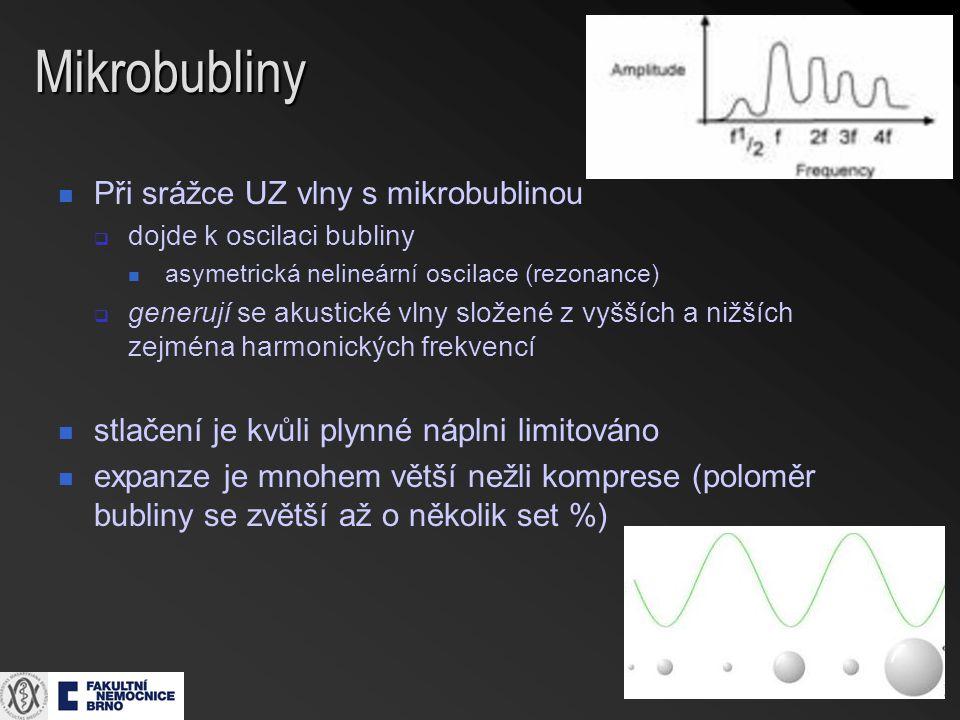 Mikrobubliny Při srážce UZ vlny s mikrobublinou