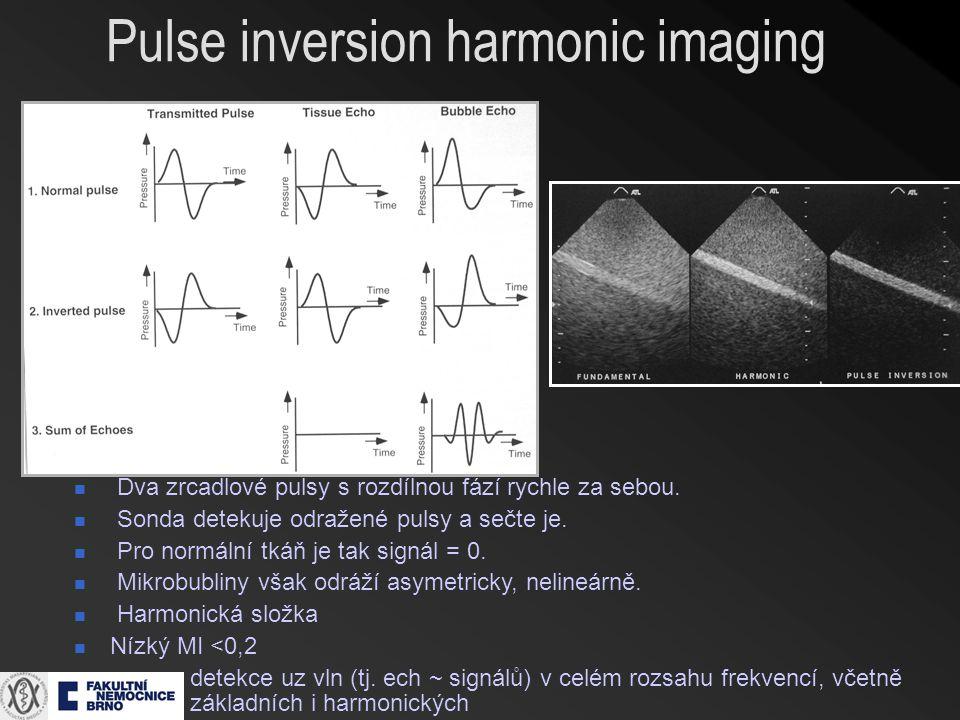 Pulse inversion harmonic imaging