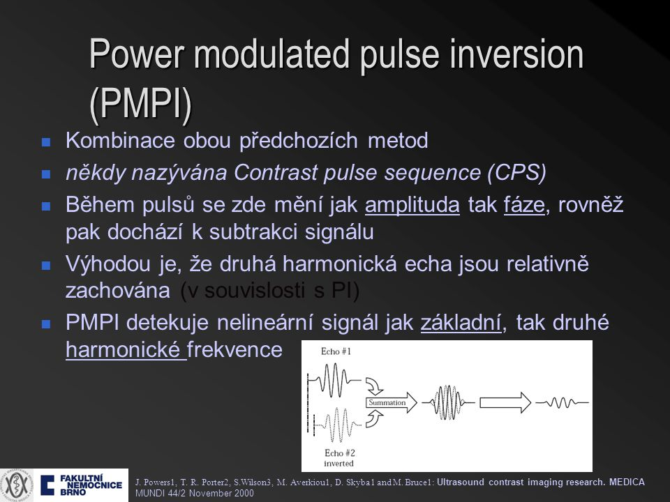 Power modulated pulse inversion (PMPI)
