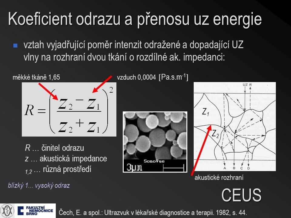 Koeficient odrazu a přenosu uz energie