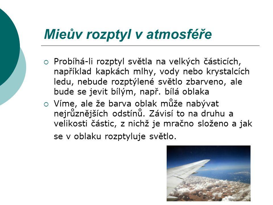 Mieův rozptyl v atmosféře