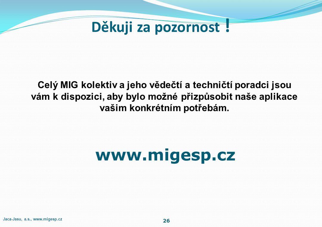Celý MIG kolektiv a jeho vědečtí a techničtí poradci jsou