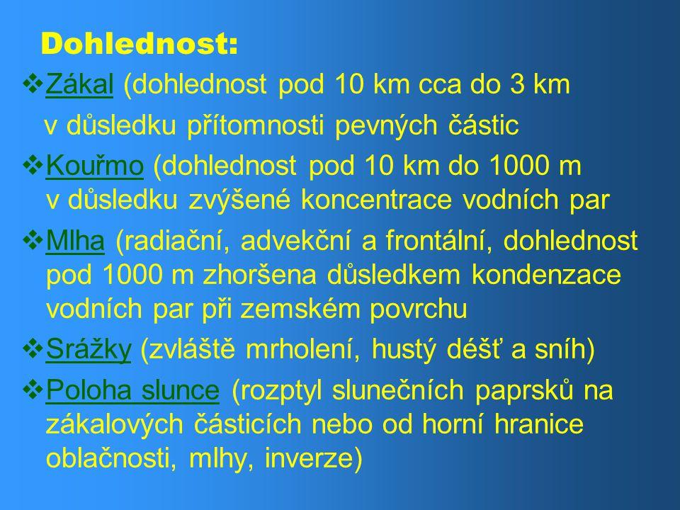 Dohlednost: Zákal (dohlednost pod 10 km cca do 3 km