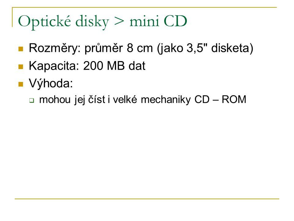 Optické disky > mini CD