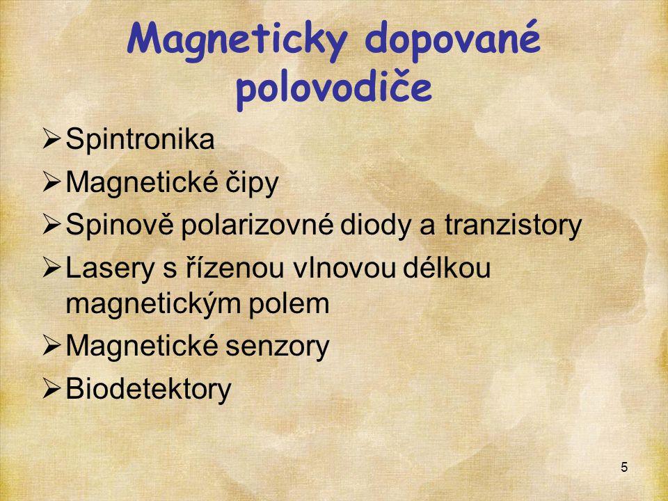 Magneticky dopované polovodiče