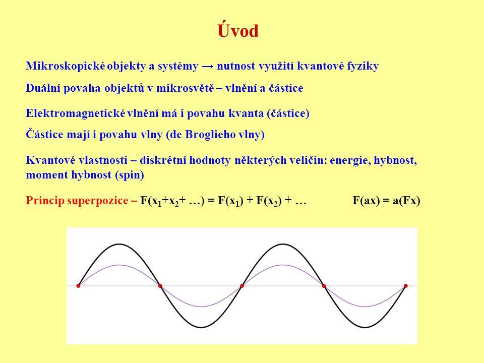 Úvod Mikroskopické objekty a systémy → nutnost využití kvantové fyziky