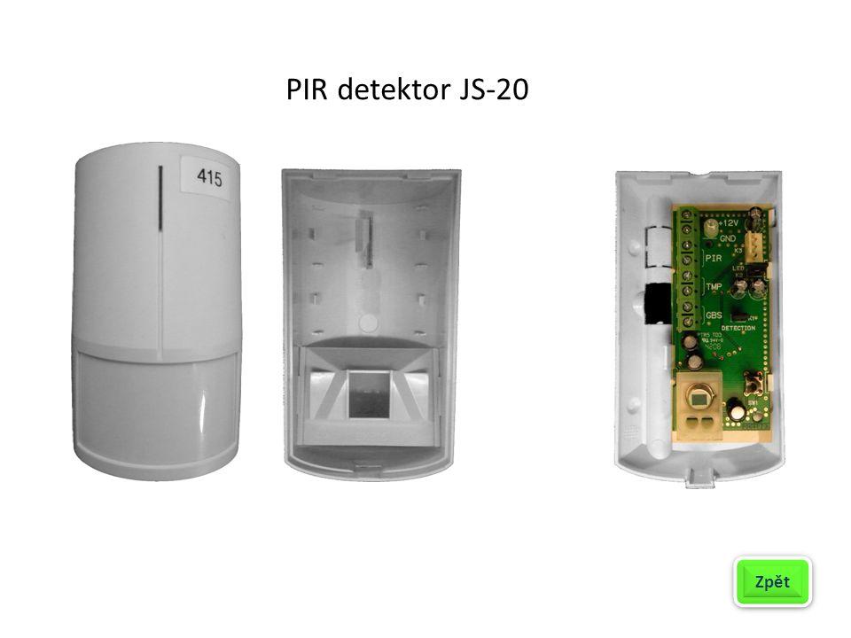 PIR detektor JS-20 Zpět