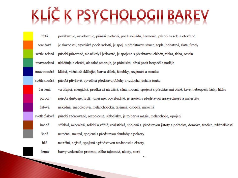 Klíč k psychologii barev