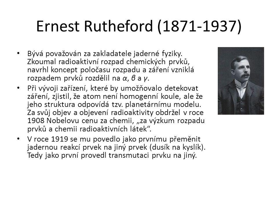 Ernest Rutheford (1871-1937)