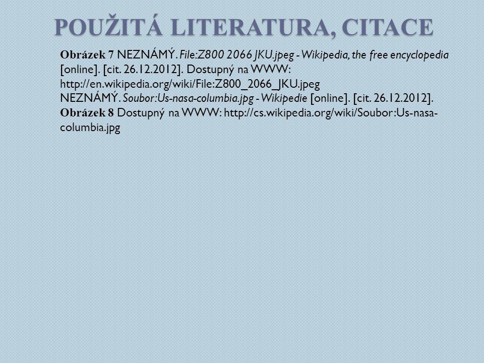 Použitá literatura, citace
