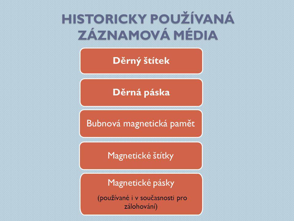 Historicky používaná záznamová média