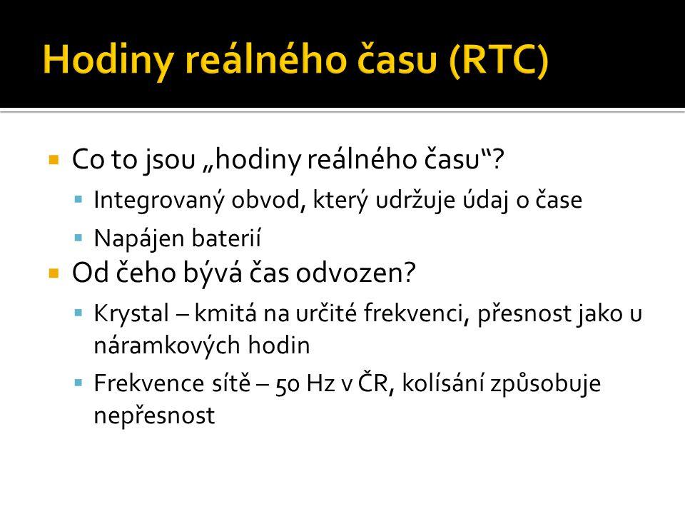 Hodiny reálného času (RTC)