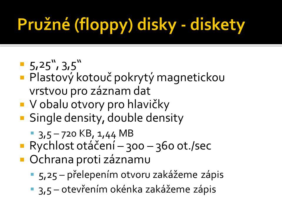 Pružné (floppy) disky - diskety