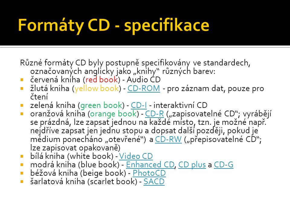 Formáty CD - specifikace