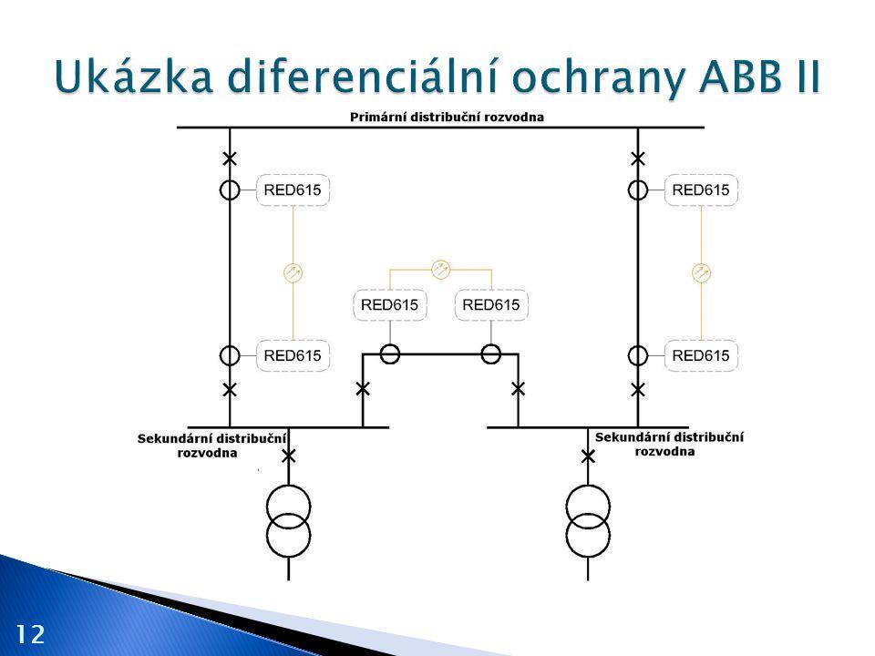 Ukázka diferenciální ochrany ABB II
