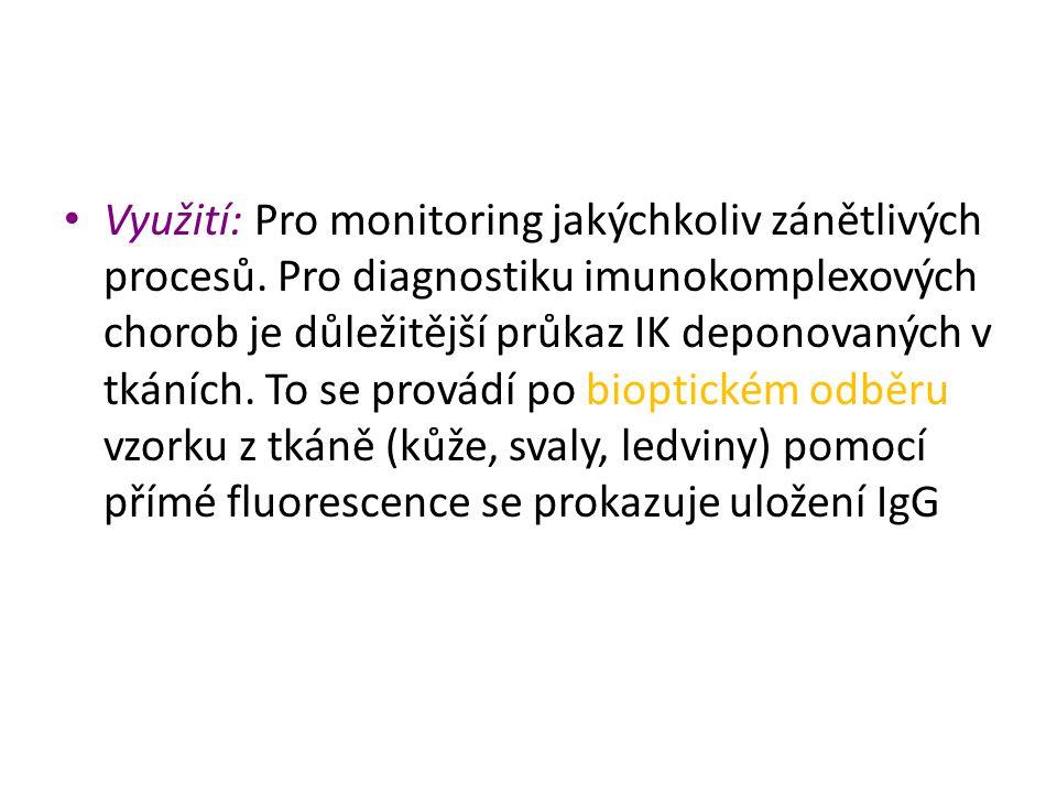 Využití: Pro monitoring jakýchkoliv zánětlivých procesů
