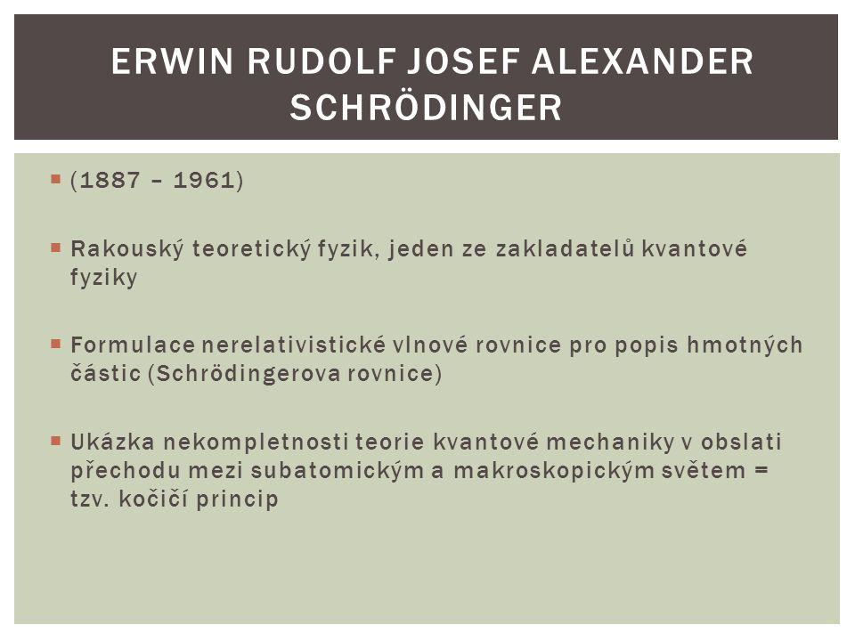 Erwin Rudolf Josef Alexander Schrödinger
