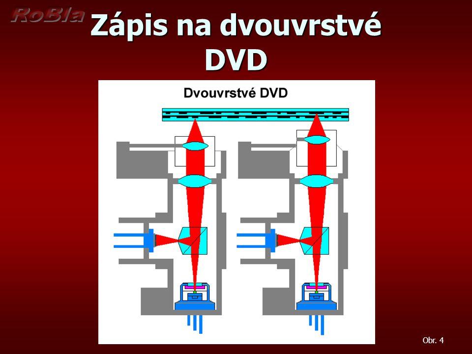 Zápis na dvouvrstvé DVD