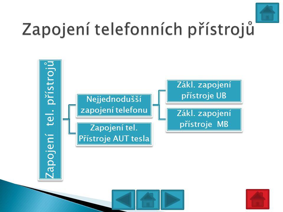 Zapojení telefonních přístrojů