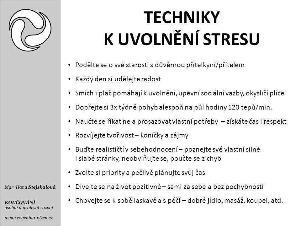 TECHNIKY K UVOLNĚNÍ STRESU