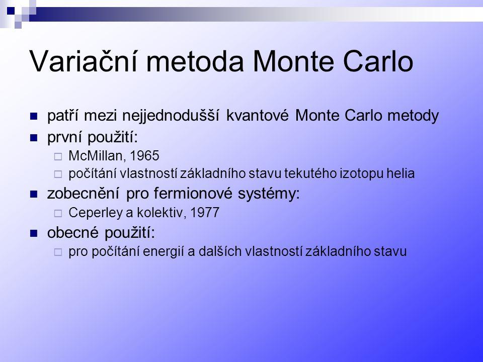 Variační metoda Monte Carlo