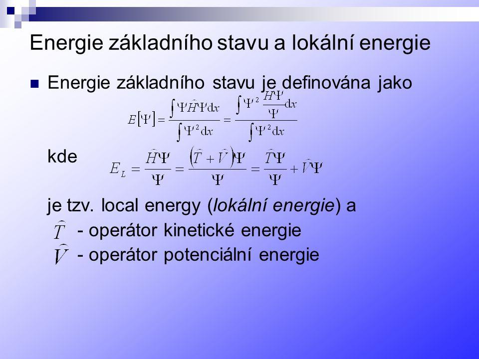 Energie základního stavu a lokální energie