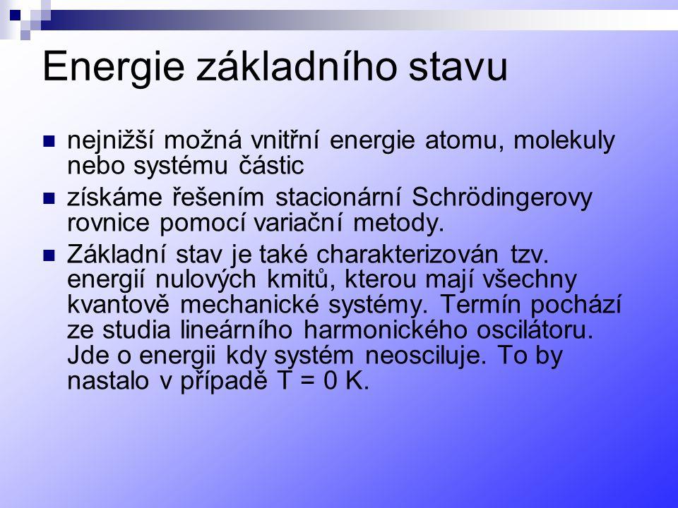 Energie základního stavu